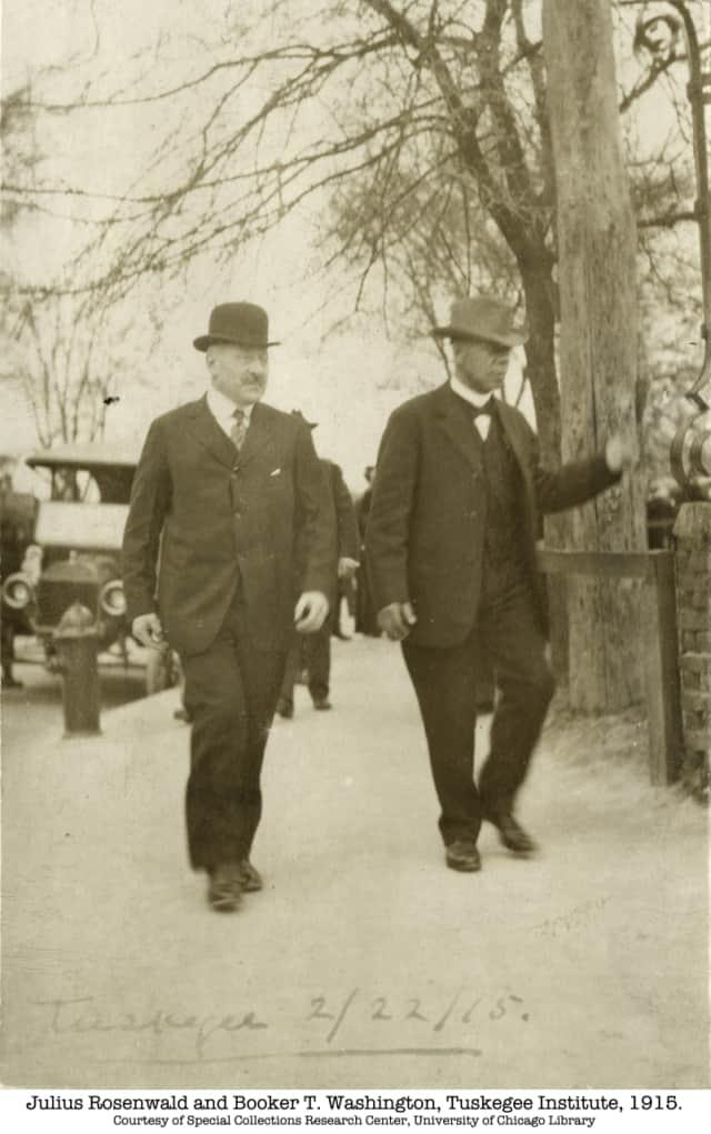 Julius Rosenwald, left, with Booker T. Washington.