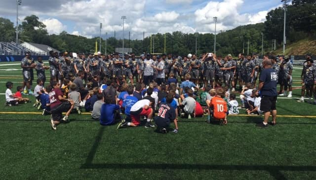 Tri-state football players flocked to campus for Pace's annual football camp.