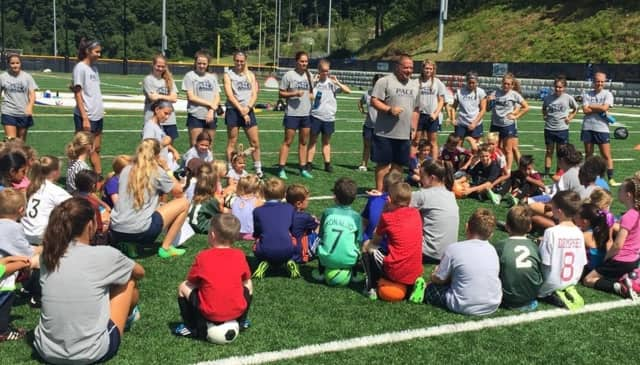 Young players took to the field as the Pace women's soccer team hosted a youth camp this past weekend.