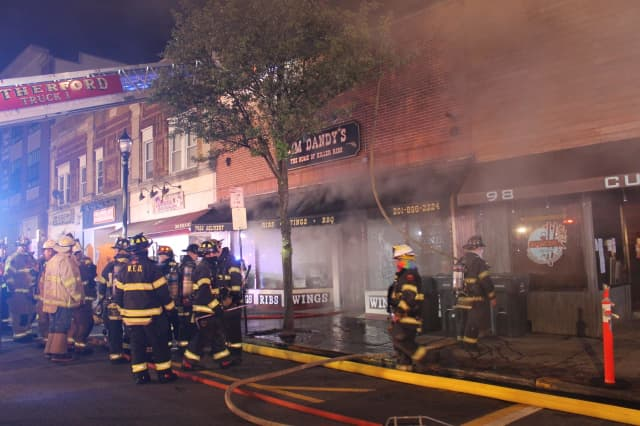 Overnight fire at Jim Dandy's in Rutherford.