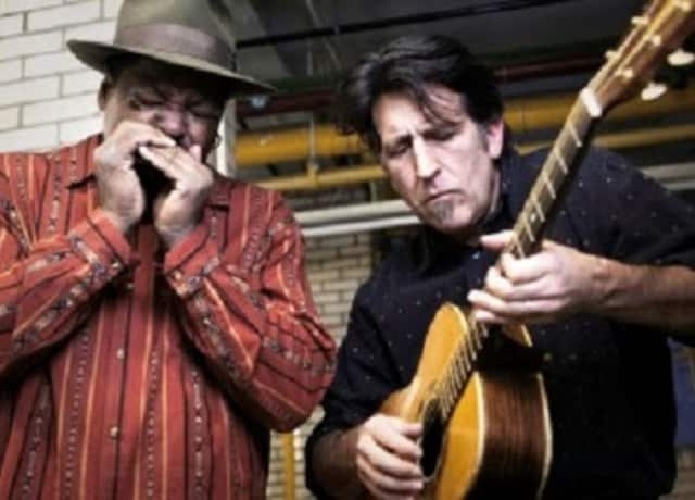 Phil Wiggins and George Kilby Jr. will play the Rye Arts Center with special guest Sherman Holmes.