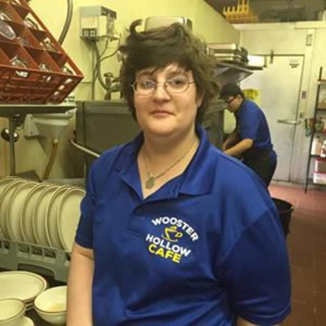 Deb Muhlfeld, the cleaning manager at Wooster Hollow Cafe, is a graduate of the programs at Ability Beyond.