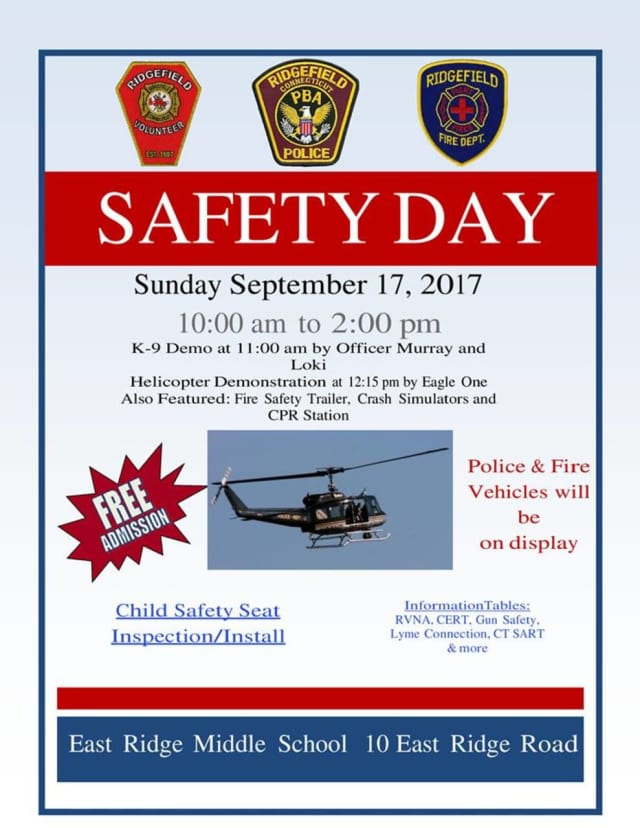 Ridgefield will holds its annual Safety Day this Sunday