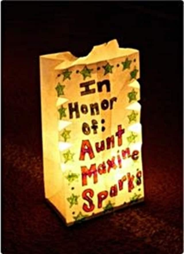 a memorial luminaria from a prior Relay For Life event