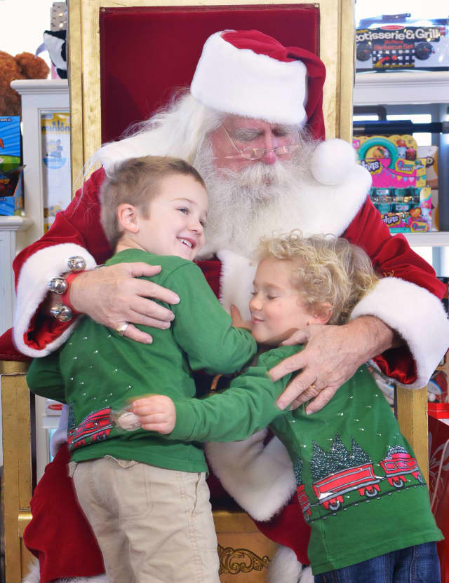 Darien resident Joe Warren, aka Santa Claus, at the Darien Sport Shop.