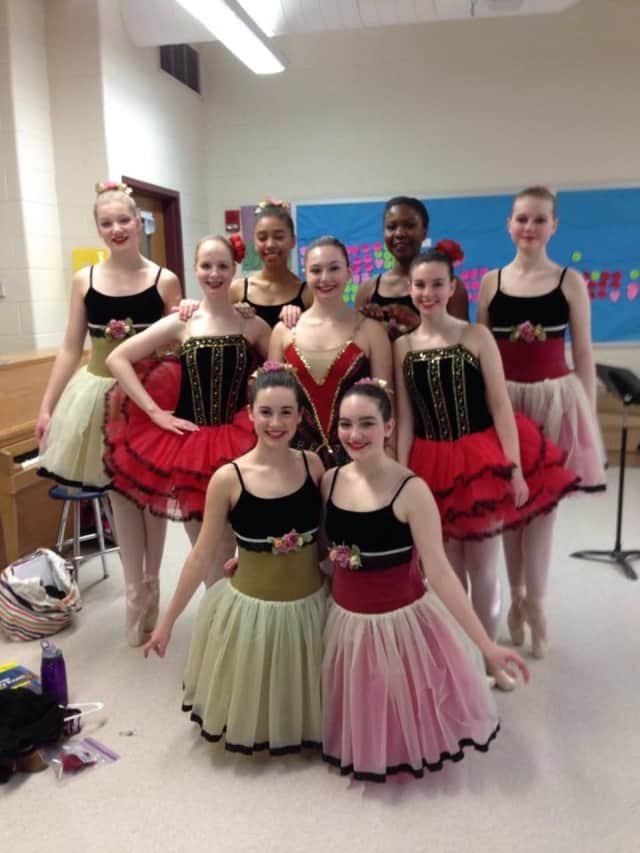 These dancers of SAS School of Dance in New Fairfield are shown before a Ballet Don Quixote performance in 2015. Registration for summer and fall classes begins Tuesday.