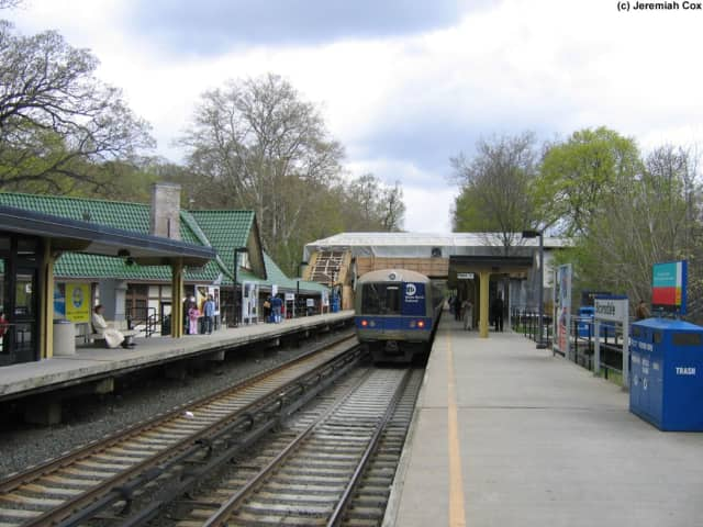 A man was struck by a train at the Metro-North station in Scarsdale on Tuesday morning.