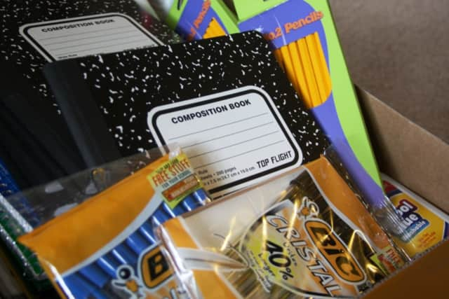 A school-supplies drive will continue until Sept. 12.