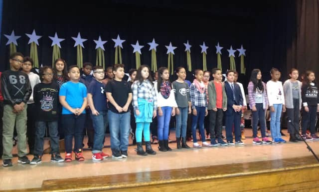Students from Englewood on The Palisades Charter School at a recent performing during a recent event.