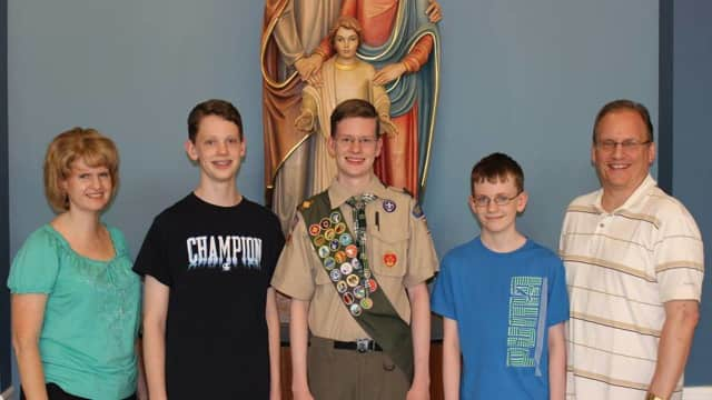 Yorktown High School graduate Robert Serafin recently became an Eagle Scout.