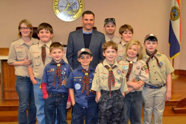 Pleasant Valley Cub Scout Pack 33 recently visited the Dutchess County Office Building to learn about government.