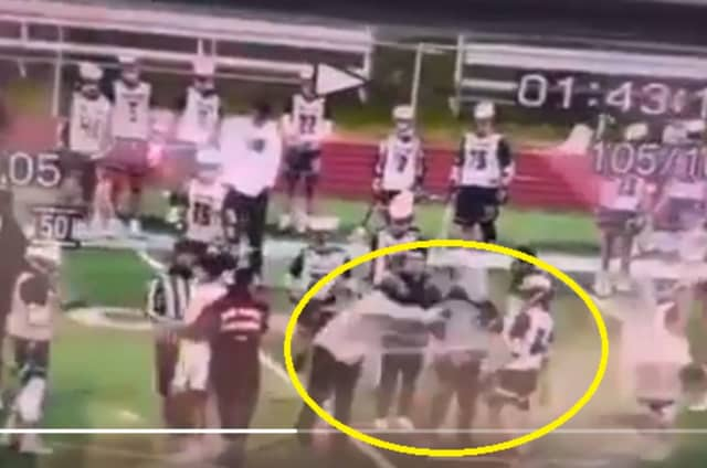 Video shows the incident in the Bosco-St. Joe's game in Ramsey.