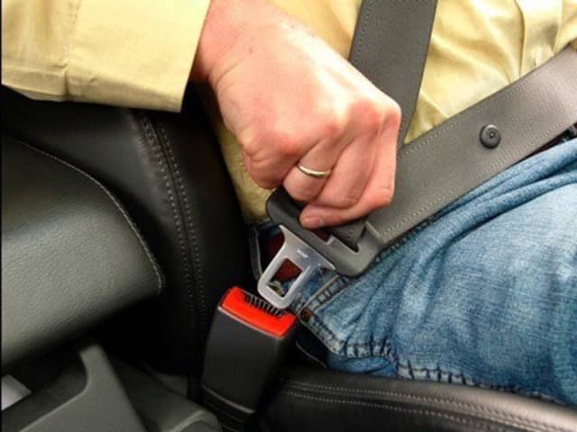 Ramapo Police remind residents to buckle up.