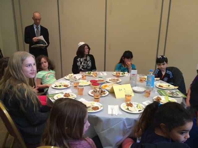 Shir Shalom in Ridgefield. Shown is the religious school's K-3 Model Seder.