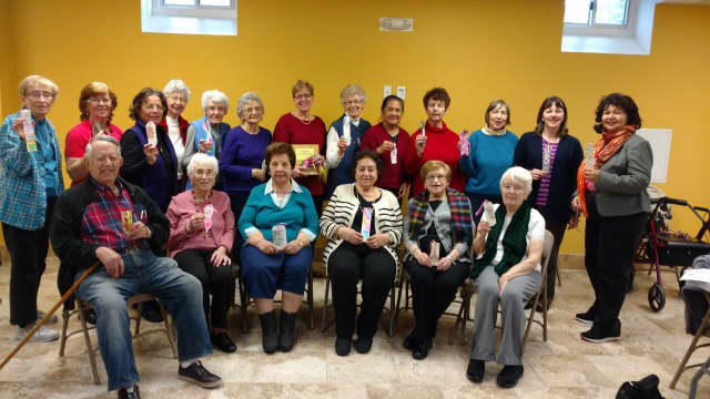 These members of the Eastchester Garth Road Senior Center make monthly craft projects to help the community.