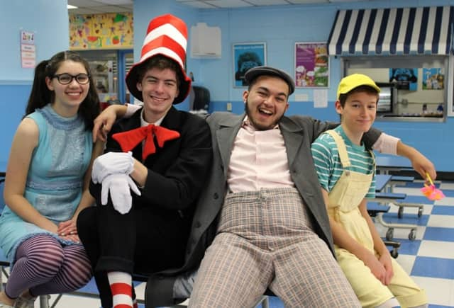 Some members from the cast of Seussical.