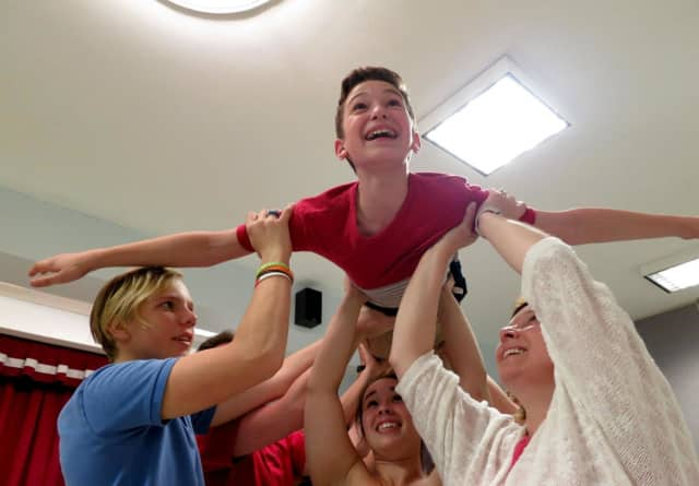"""A rehearsal for """"Seussical,"""" playing in Ramsey Thursday through Sunday through Per4ming heARTS Theater Company."""