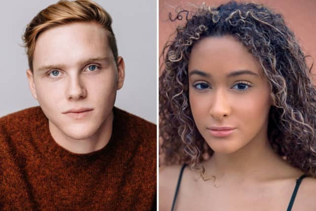 "Jason Marrs and Shea Vaughan-Gabor, Pace University seniors who landed roles on ""NCIS"""