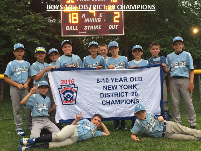 Sherman Park Little League captured the District 20 10-and-under championship with an 18-2 win over Eastchester.