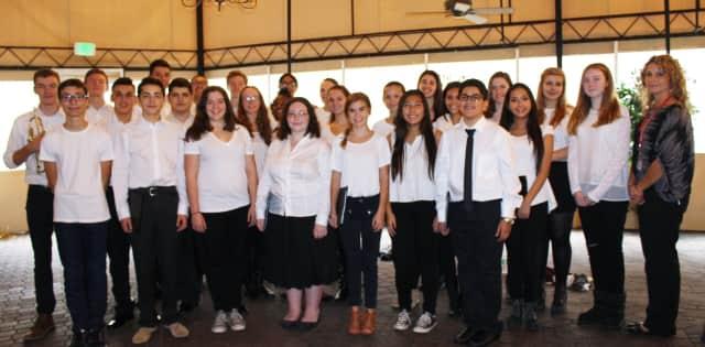 The Sleepy Hollow High School Chorus performed at a Nov. 6 breakfast for veterans in Tarrytown.