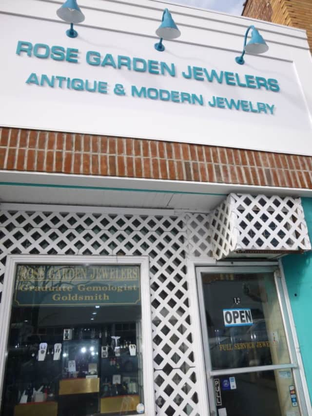 Rose Garden Jewelers at 12 South Moger Ave. in Mount Kisco specializes in antiques and one-of-a-kind pieces of jewelry.