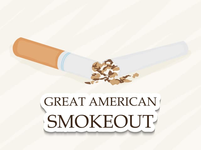 Tobacco users can kick the habit this Thursday, thanks to the American Cancer Society's Great American Smokeout.
