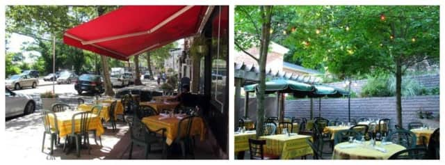 Visitors to Sidewalk Bistro can dine along Piermont Avenue on the sidewalk or around back in the garden area.