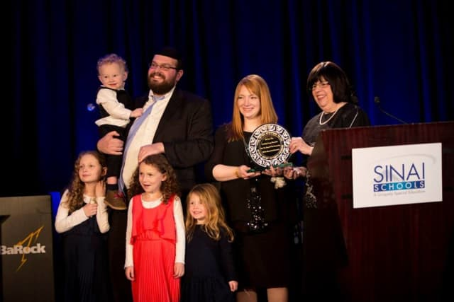 On Feb. 8, 2015, Sinai Schools honored Holy Name Medical Center with the Community Partnership Award at its annual benefit dinner.