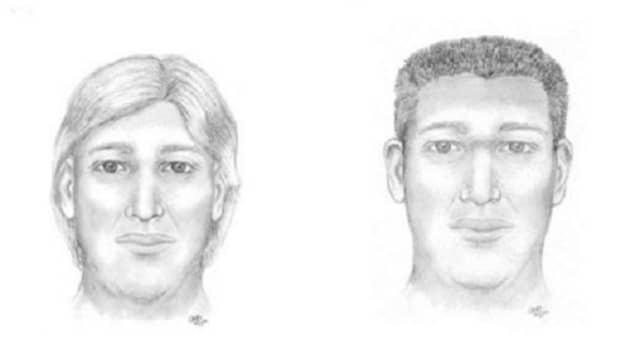 Facial reconstruction images of the possible appearance of a man whose skeletal remains were found off Route 22 in Amenia.