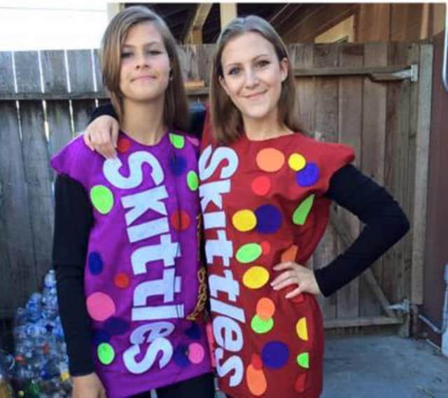 Mars is removing artificial colors from popular candy like M&Ms, Skittles and Starburst. Shown here are Jamie and Madyson, Skittles recent BFFs on Facebook.