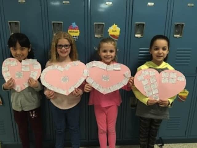 Students are Woodglen Elementary School will be writing nice things about each other Valentine's Day.