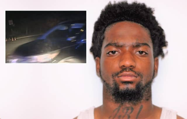 The Honda was still moving with Kendel Smith inside when the driver bailed out and ran on a Haworth dead end, police said.