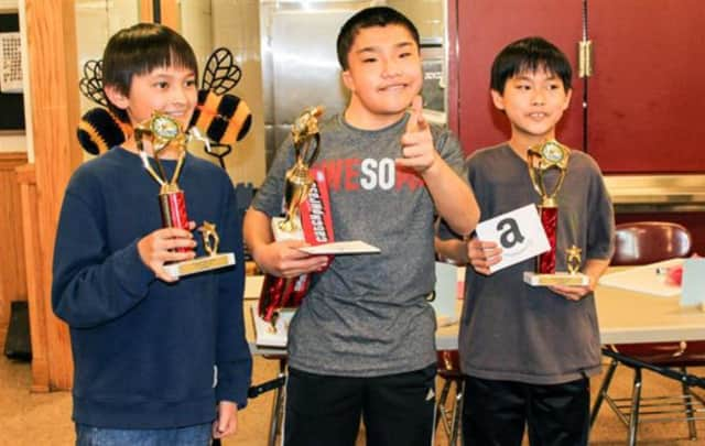 Scarsdale Middle School's Jayho So, Jeremy Lin and Alex Horvath received first-, second- and third-place, respectively in a recent sixth grade spelling bee.