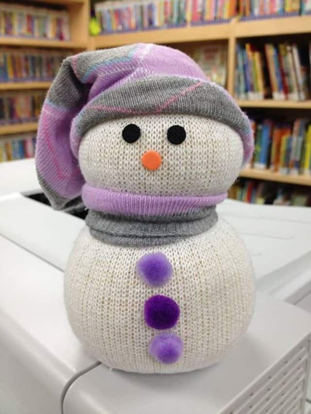 "The East Rutherford Library is giving kids the chance to design their own ""sock snowman"" Jan. 13."