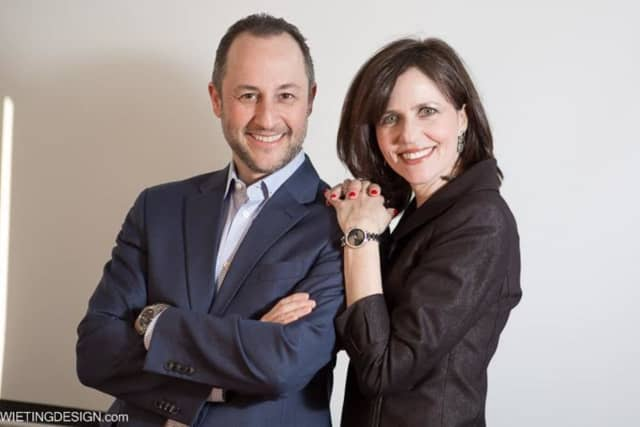 Stamford's Ami Soifer, left, is founder and CEO of The TNS Group. His wife,  Louise,  right, is the human resources director. The TNS Group announced the acquisition of New York-based Chelsea Computer earlier this week.