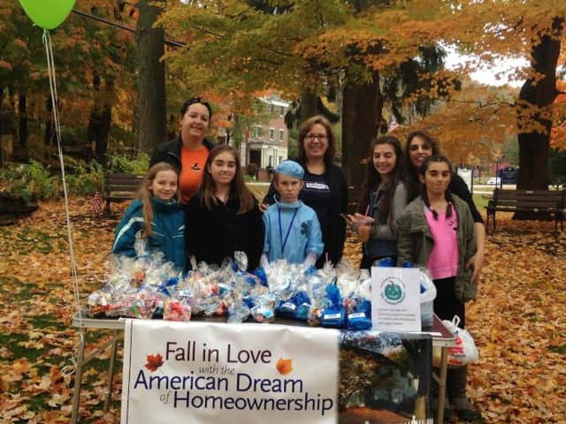 Agents from Coldwell Banker Residential Brokerage in Somers handed out Halloween treats at a recent parade.