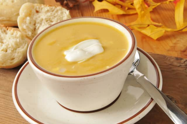 Enjoy the season's harvest with a savory butternut squash soup with ginger.