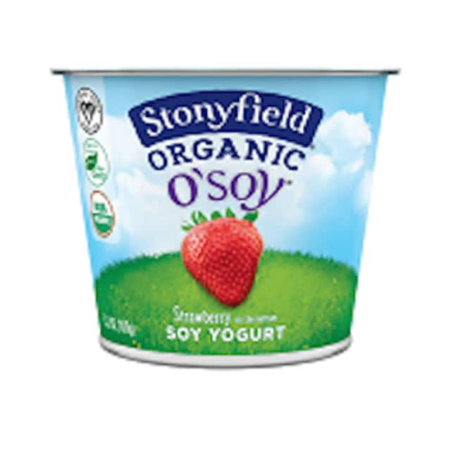 The Stonyfield O'Soy Strawberry Soy Yogurt is being recalled after it was discovered to contain dairy products