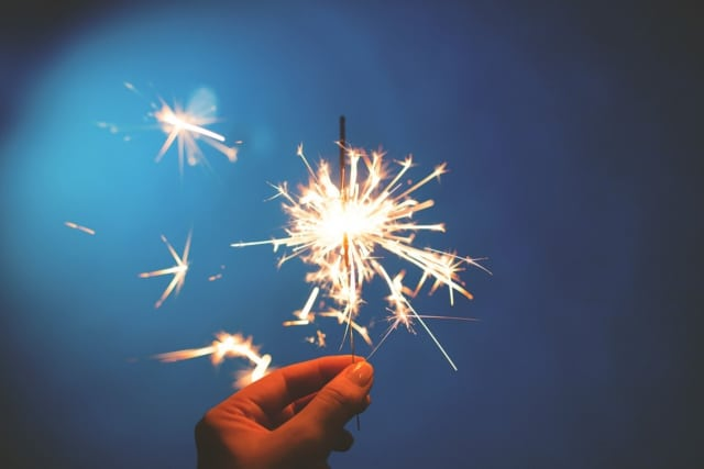 Police are warning residents of the dangers of fireworks, including sparklers.