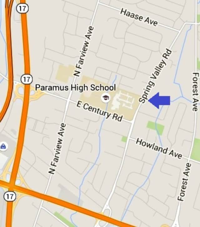 The girl was struck between Paramus High School and East Brook Middle School