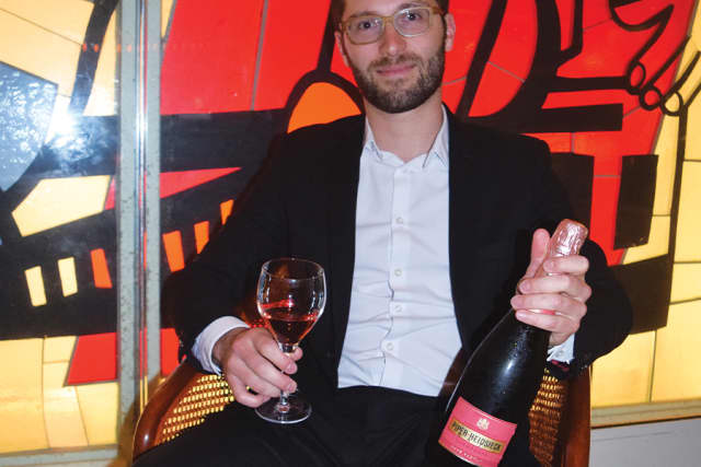 Emilien Boutillat, newly installed chef de caves for Piper-Heidsieck Champagne.