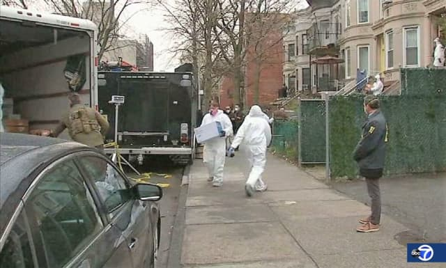 Federal agents seizing PPE in Brooklyn.