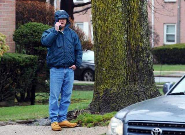 A plain clothes spotter used as part of the Stamford Police Department's crack down on distracted driving.