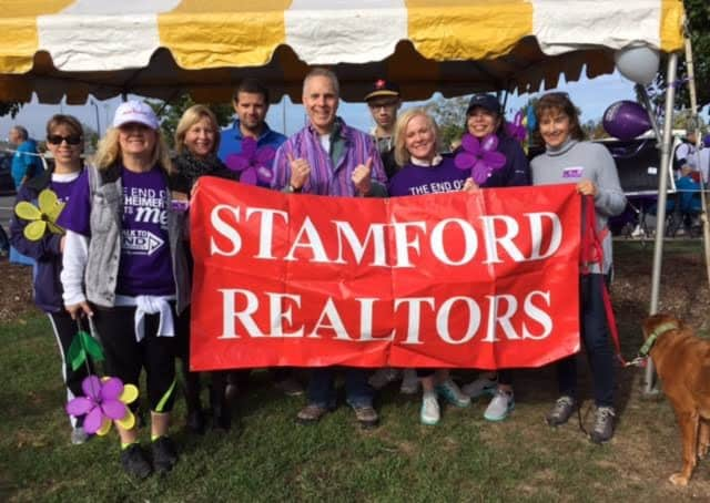 The Stamford Board of Realtors raised more than $11,000 in Sunday's Walk for Alzheimer's.