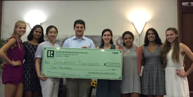 10 students from Stamford received scholarships from the Stamford Board of Realtors.