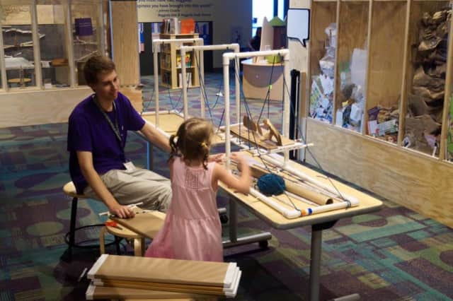 The Mega Making exhibit experience is open now through Labor Day at Stepping Stones Museum for Children in Norwalk.