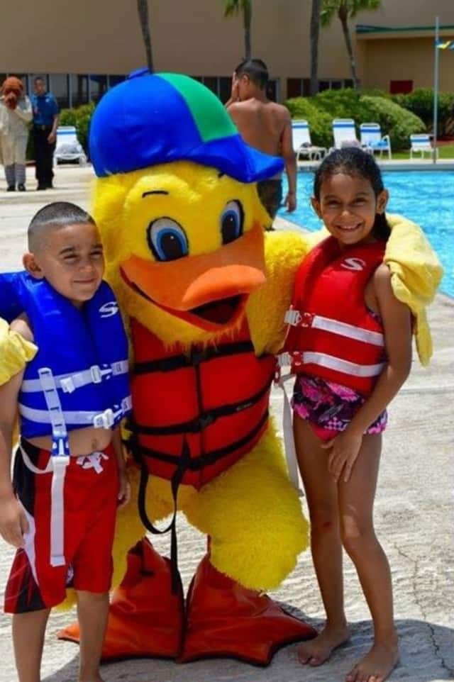 Stewie the Duck will make an appearance on Water Safety Day at Calf Pasture Beach in Norwalk this Saturday, July 2.