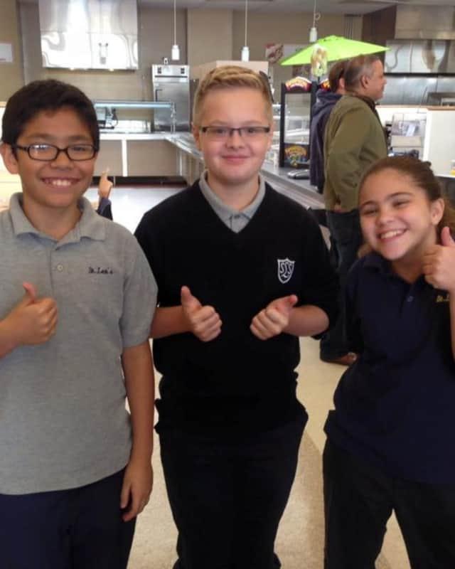 Students at St. Leo's School in Elmwood Park.