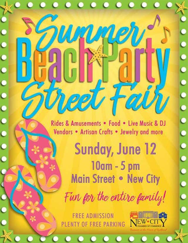 New City's Summer Beach Party Street Fair takes place Sunday.