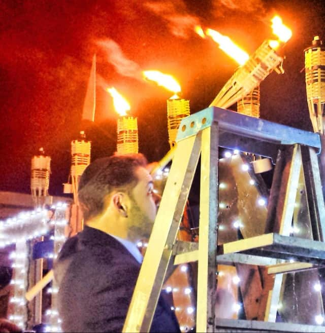 A previous Chabad of Suffern Chanukah menorah event.